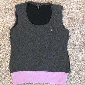 Escada Sport Gray & Lilac Vest